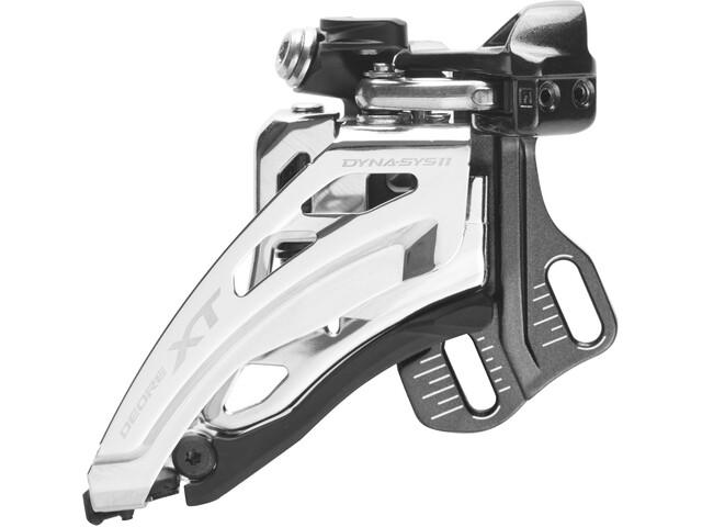 Shimano Deore XT FD-M8020 Dérailleur avant 2x11 vitesses montage direct Side-Swing, black/silver